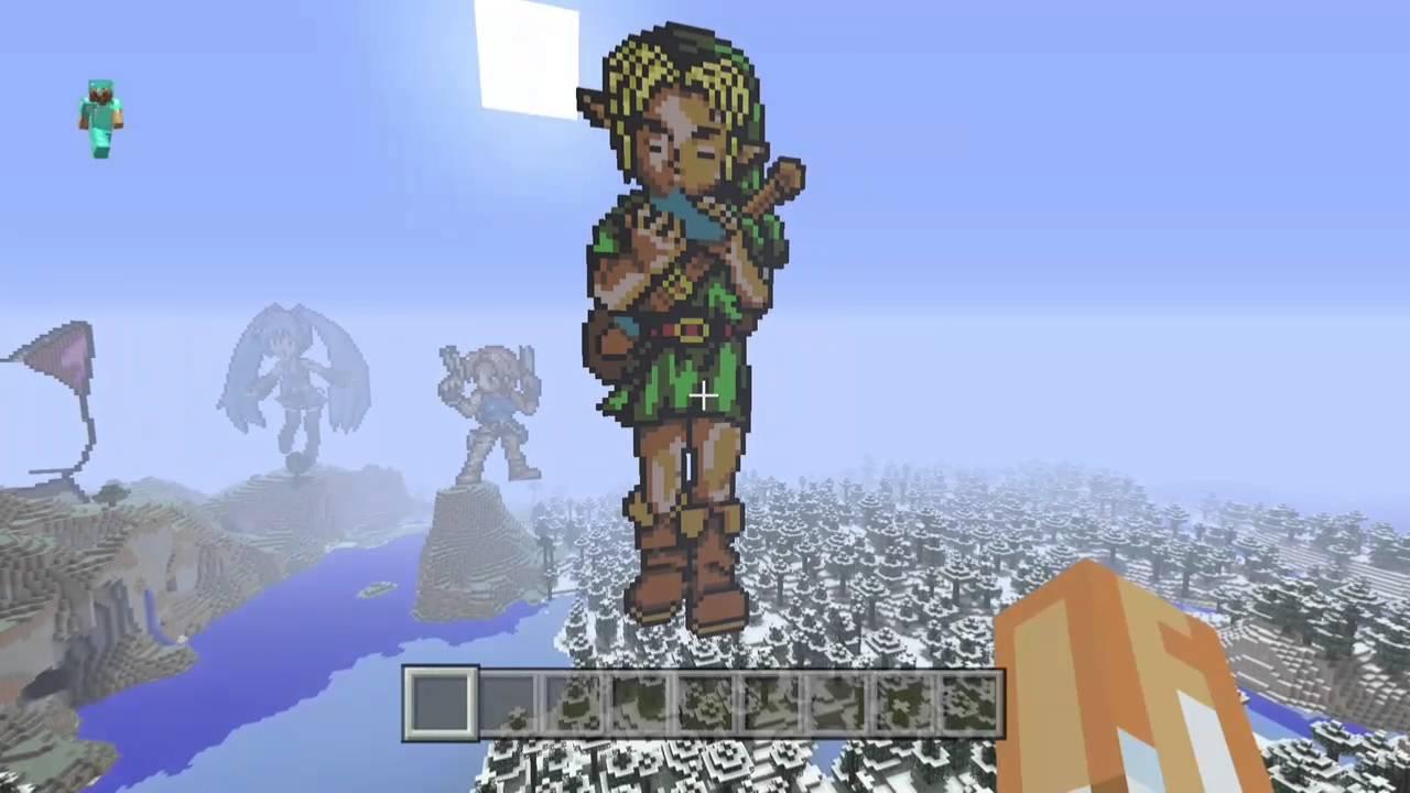 Pixel Art Link Ocarina Of Time Minecraft édition Xbox