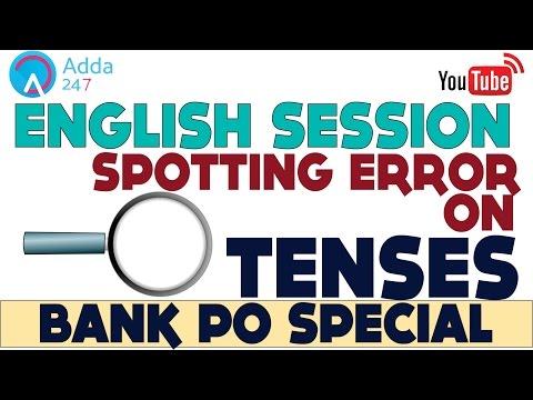 Spotting Error On Tenses for SBI PO 2017