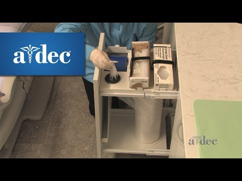Refill the Barriers Drawer in A-dec Inspire Dental Cabinets