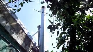 Дымоход для газового котла . Вид на улице.(Дымоход в алюцинковом кожухе 130/190мм - сендвич., 2014-07-31T14:52:26.000Z)