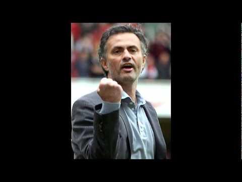 Jose mourinho tries to kick cesc fabregas