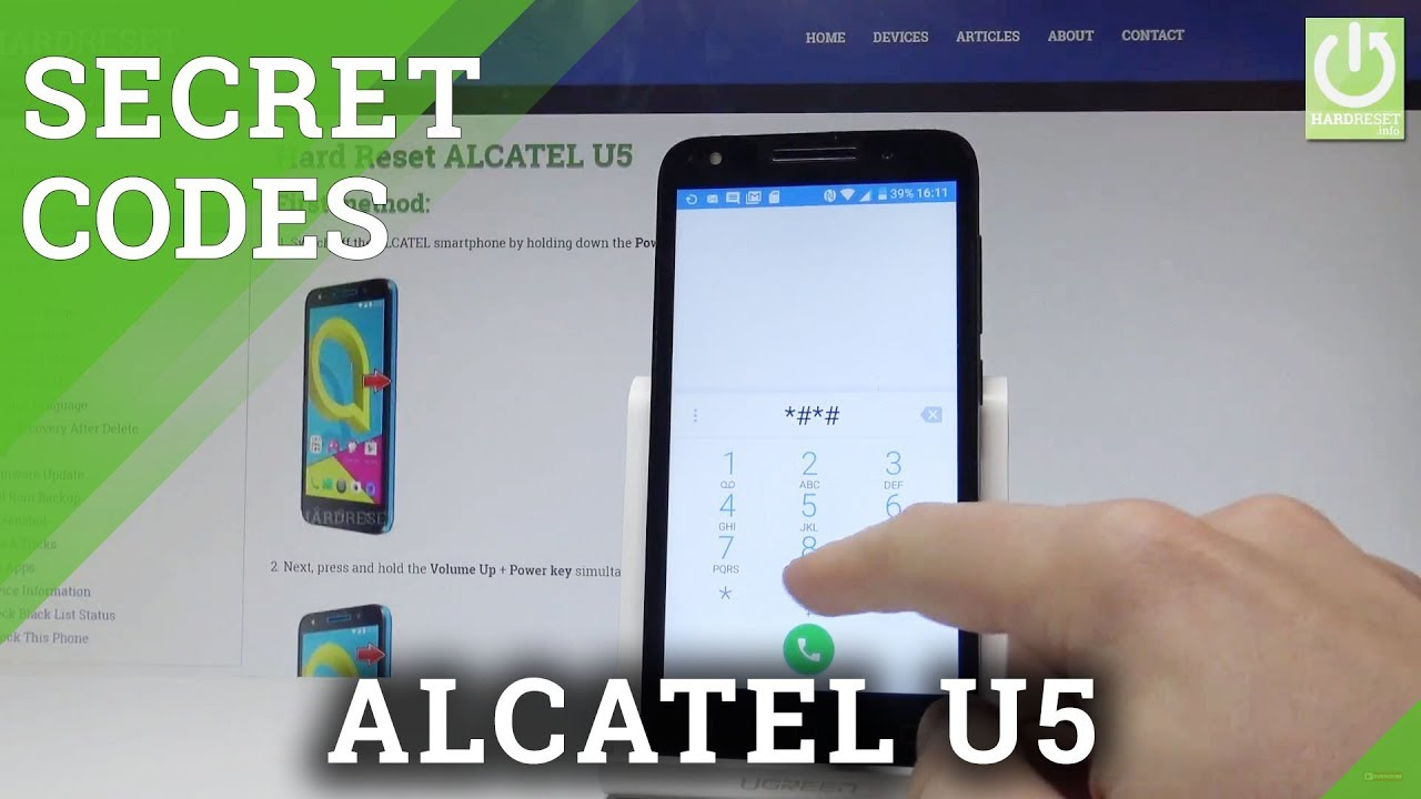 Secret Codes ALCATEL U5 - Tricks / Hidden Mode / Secret Options
