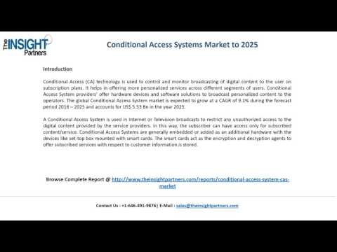 Conditional Access Industry worth US$ 350.21 Billion By 2025