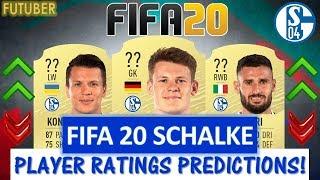 FIFA 20   SCHALKE PLAYER RATINGS!! FT. NUBEL, CALIGIURI, KONOPLYANKA ETC... (FIFA 20 RATINGS)