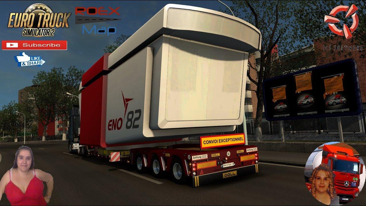 Euro Truck Simulator 2 (1.38) Big Heavy Job in Ukraine Wind Turbine ENO82 Delivery + DLC's & Mods
