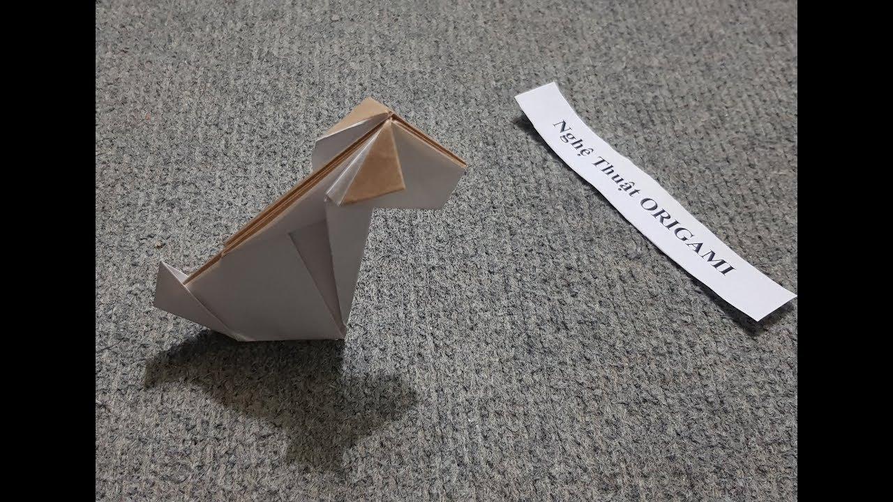ORIGAMI - Hướng dẫn cách xếp giấy Origami con chó đơn giản #2