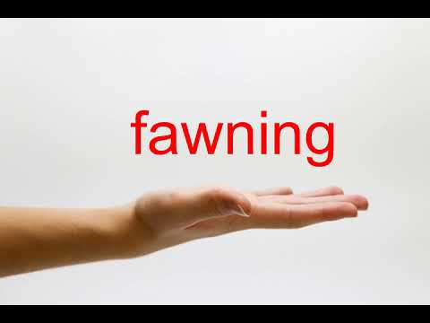 How to Pronounce fawning - American English