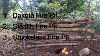 Dakota fire pit - stealth campfire pit - smokeless fire pit