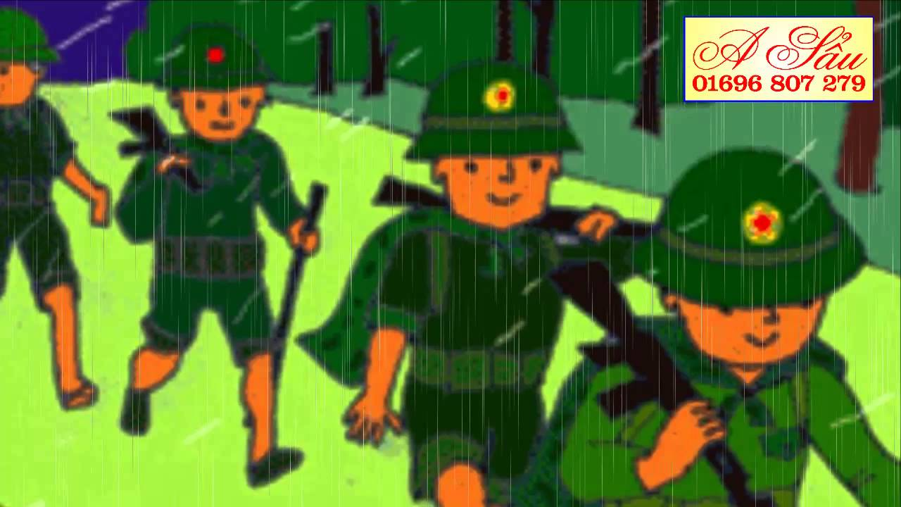 Thơ: Chú bộ đội hành quân trong mưa