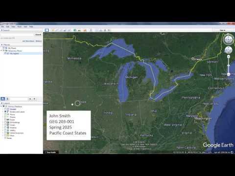 Google Earth Screen Overlay