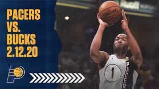 Indiana Pacers Highlights vs. Milwaukee Bucks | February 12, 2020