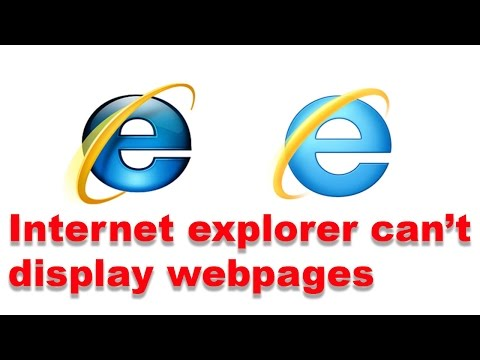 Fixed: Internet explorer can not display the web page