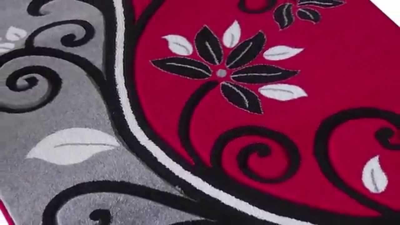 Decoria Fekete Fehér Piros szőnyeg video - dizon.hu webáruház - YouTube 0828a08827