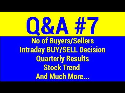 Q&A #7 - No of Sellers | Quarterly Results | Buy Sell Decision | Stock Trend Live Market