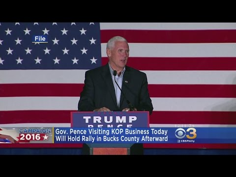 Republican Vice Presidential Nominee Mike Pence Hosts Local Campaign Events