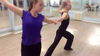 Коля и Оксана танцуют на открытом уроке по хастлу