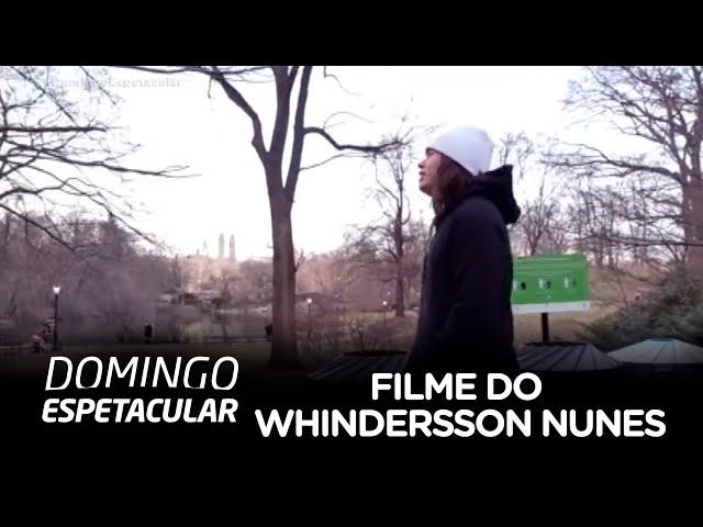 Whindersson Nunes mostra os bastidores de seu filme ao Domingo Espetacular