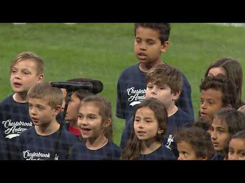 Chesterbrook Elementary School West Chester Performs National Anthem