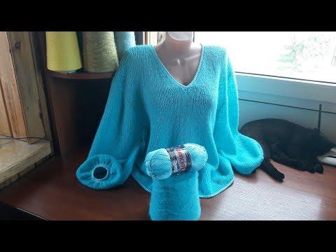 """Пуловер """"Голубая лагуна"""". Часть 1. Обзор."""