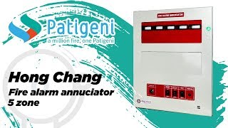 Fire Alarm Annunciator Panel Hong Chang 5 Zone