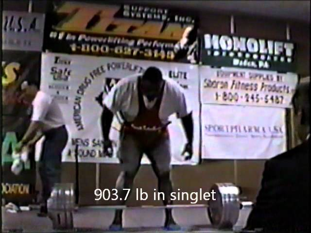 Mark Henry Wins 1995 Usapl Adfpa Nationals And Deadlifts 903 Lb Wmv Youtube