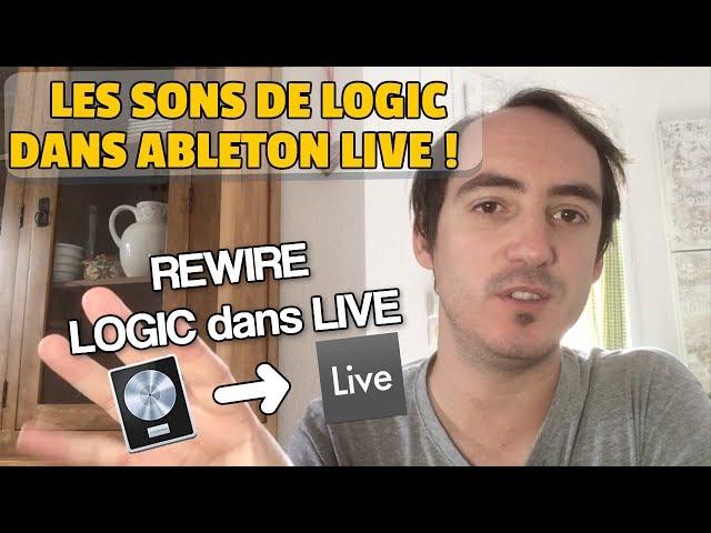 UTILISER LES SONS DE LOGIC PRO X DANS ABLETON LIVE (REWIRE)
