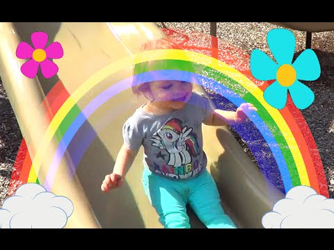 Cute Kid Plays at the Playground and Lake! Little Toddler Genevieve has LOTS of Fun Playing Outside!