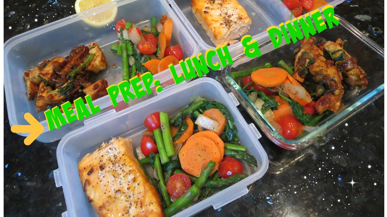 Meal Prepping for weight loss: Lunch & dinner - YouTube
