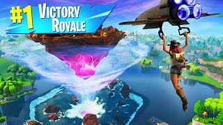 WINNING A Game Of Fortnite WITHOUT LANDING! (Season 6)