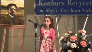 "Anika Serra (6 lat)  - wiersz pt. ""Śnieg"""