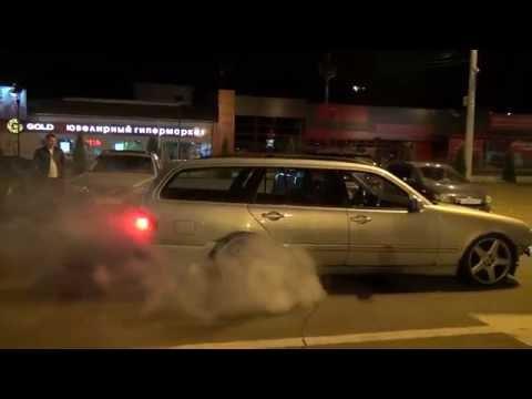 Mercedes S210 wagon 3.2cdi burnout / W210 t-model жгёт резину