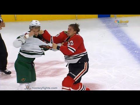 Marcus Foligno vs John Hayden Oct 12, 2017
