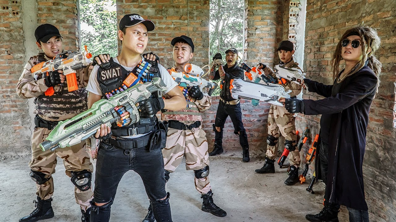 LTT Game Nerf War : Captain SEAL X Nerf Guns Fight Rocket Crazy Crime Bait Trap Opponent