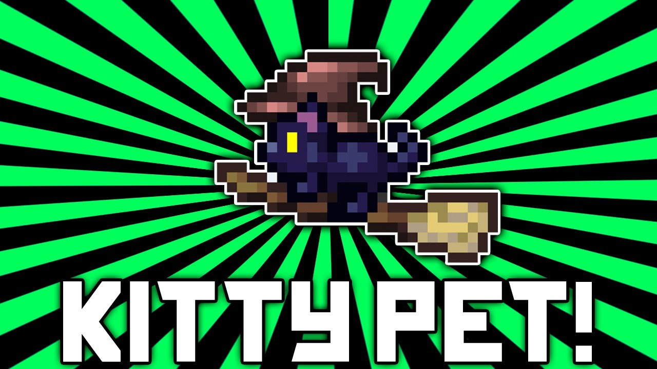 Terraria 1 2 1 How To Get The Kitty Pet Unlucky Yarn Halloween Update Demize Youtube