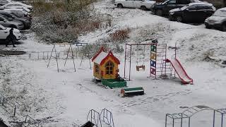 Первый снег. Мурманск.05.10.2018