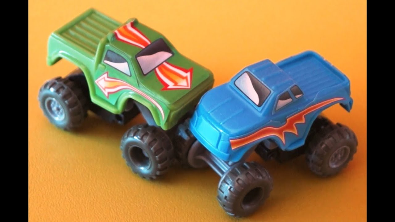 Playing With Funny Small Kinder Surprise Cars Jeep Cars Monster