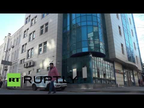 Ukraine: Kiev bank damaged after occupation by armed men