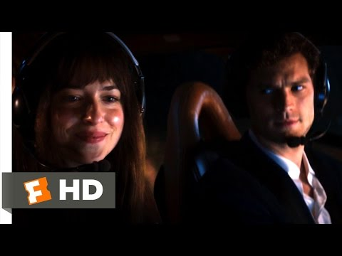 Fifty Shades of Grey (5/10) Movie CLIP - Helicopter Ride (2015) HD