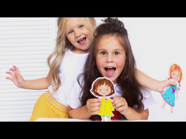 Vladi Toys VT3702-03 Магнитная игра одевашка Соня