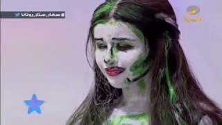 الرسامة المبدعة نورة اليوسف تقدم لوحة فنية من فن (البوب آرت) تجسد التعاون الخليجي