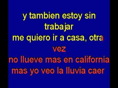Nunca llueve al Sur de california-  Albert Hammond - karaoke Tony Ginzo