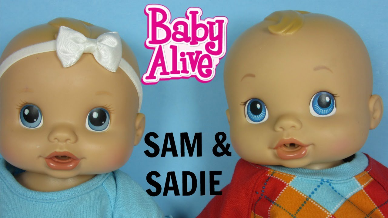Baby Alive Wets N Wiggles Boy And Girl Twins And American Girl Doll Clothes Youtube