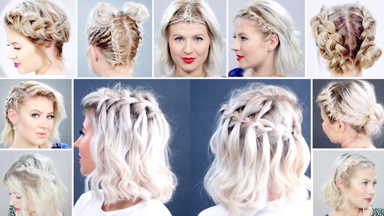 top 15 braided short hairstyles | milabu