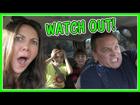 DRIVING TO KAYLA'S CHEER COMPETITION | SHAWN GETS CRAZY!