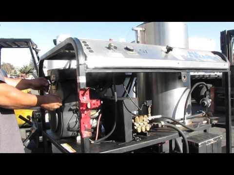 All American Pressure Washer Trailer Propane 20hp Kohler Engine 4000 PSI AS IS