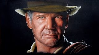 Drawing Harrison Ford  Indiana Jones