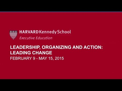 Online Course: Leadership, Organizing and Action | Harvard Kennedy School
