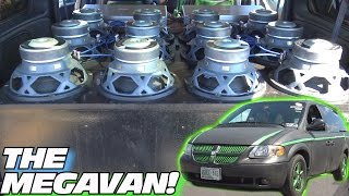 COOLEST Minivan EVER!!! MEGAVAN's Inverted Subwoofer BASS w/ 12 10