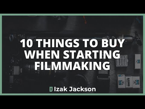 The First 10 Things You Should Buy As A Filmmaker