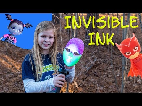 Assistant Uses Invisible Ink on a Treasure Hunt for PJ Masks and Paw Patrol
